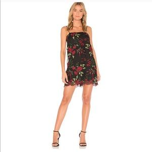 SHOW ME YOUR MUMU Rose Lace Slip Mini Dress